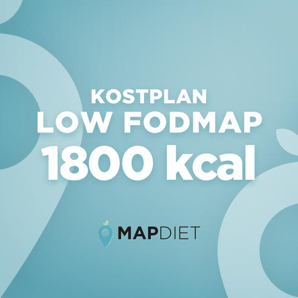 Low FODMAP kostplan 1800 kcal