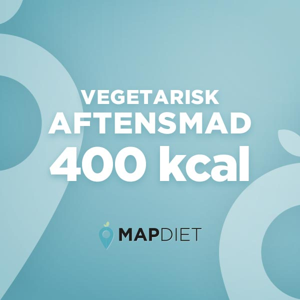 Vegetarisk aftensmad 400 kcal